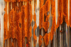 Rust on old metal plate Royalty Free Stock Photos