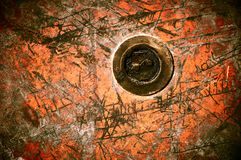 Rust old metal texture Stock Photography