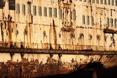 Rust on old ship A Stock Images