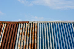 Rust old zinc roof Royalty Free Stock Photos