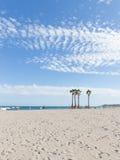 Rust onder de palmen op het strand Royalty-vrije Stock Foto