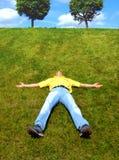 Rust op een gras Stock Afbeeldingen
