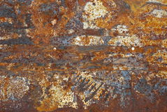 Rust ornament. Abstract pattern of rust forming on iron surface Stock Photo