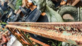 Free Rust Paint Pealing Old Gate Salvage Yard 16x9 Stock Photography - 188939832