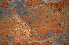 Rust. With paint  texture background Stock Photography