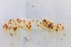 Rust. Painted metal with traces of rust Stock Photo