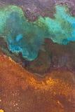 Rust Patina. Closeup of rust patina with Natural patterns stock image