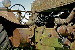 Rust and patina on an old tractor Royalty Free Stock Image