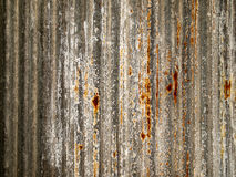 Rust on a piece of zinc Royalty Free Stock Photos