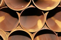 Rust pipes texture 1 Stock Photos