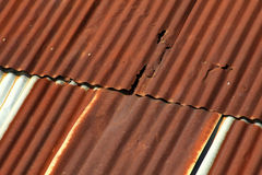 Rust roof pattern. Texture and pattern of rust roof Stock Photography
