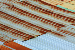 Rust roof pattern. Texture and pattern of rust roof Stock Image