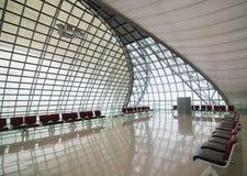 Rust ruimte in luchthaven stock foto