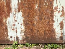 Rust rusty rusted wall wallpaper Stock Photos
