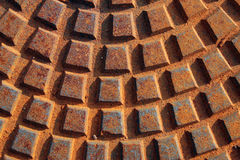 Rust sewer background Royalty Free Stock Photography
