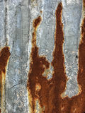 Rust sheet wall old background Royalty Free Stock Images