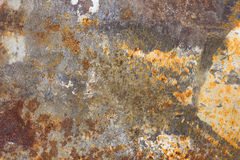 Rust and spackle on putty knife Stock Photo