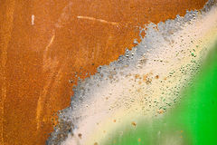 Rust spots on a steel plate. Royalty Free Stock Photography