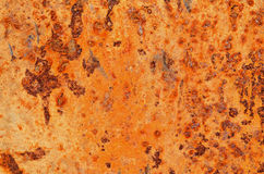 Rust spots on a steel plate. Stock Image