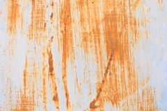 Rust Stain on Metal Plate. Stock Photo