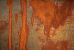 Rust stained metal background Stock Photography