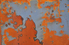 The rust at the stainless steel leaf. Looks like the world map Stock Photo