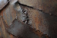 Rust steal. Backgound brown old royalty free stock photo