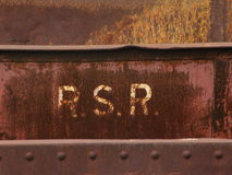 Rust on steel. The background Stock Photo