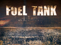 Rust steel fuel tank Royalty Free Stock Image