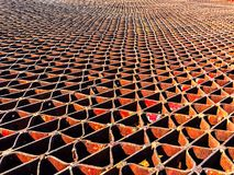 Rusted metal grate royalty free stock photography