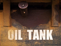 Rust steel Oil tank Stock Photo