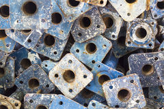 Rust steel pipe Stock Images