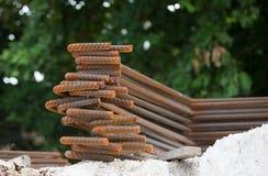Rust on Steel rebars Royalty Free Stock Image