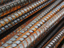 Rust steel rods Royalty Free Stock Photography