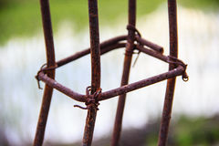 Rust steel rods Stock Photo