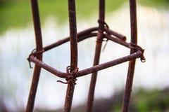 Rust steel rods Stock Photo