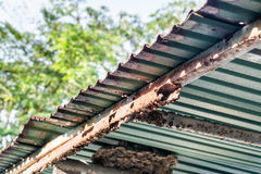 Rust on steel roof Royalty Free Stock Photo