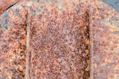 Rust on steel Royalty Free Stock Image