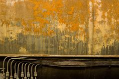 Rust structures on an steam engine Royalty Free Stock Images