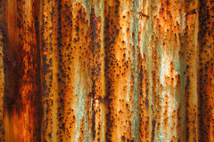 Rust on surface of iron plate Stock Photo
