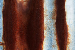 Rust on surface of iron plate Royalty Free Stock Images