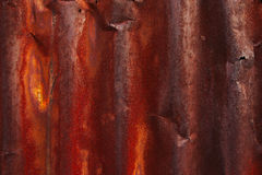 Rust on surface of iron plate Royalty Free Stock Photography