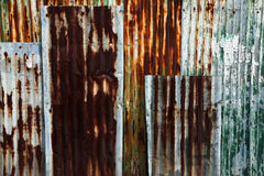 Rust on surface of iron plate Royalty Free Stock Photo