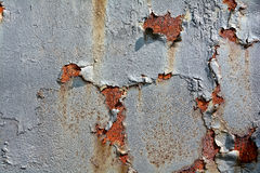 Rust. On the surface of metals, with residues of paint Royalty Free Stock Photos