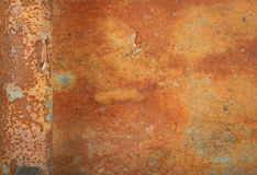 Rust texture 1. Rust texture. The bar on the left is in focus. The rest is deeper Stock Photo