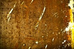 Rust texture. Old brown splashed rust texture Stock Photos