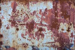 Rust texture. Background with old paint and metal rust texture Royalty Free Stock Photo