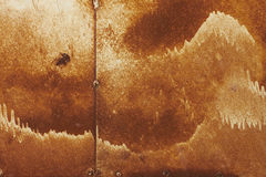 Rust texture. With old white brush strokes royalty free stock images
