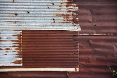 Rust and texture. The old zinc in urban Stock Photos