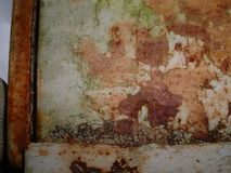Rust texture. On a machine in an old factory Stock Images